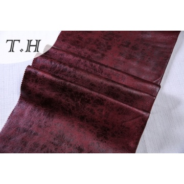 Modernist Red Embossed und Hot Stamping Suede Cover Sofa Stoff