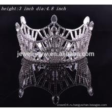 Свадебные аксессуары для волос полный круглый страз тиару и корону на продажу