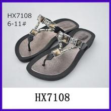 Sandalia del Rhinestone nuevo zapato de la sandalia del diseño zapatillas zapatillas señora