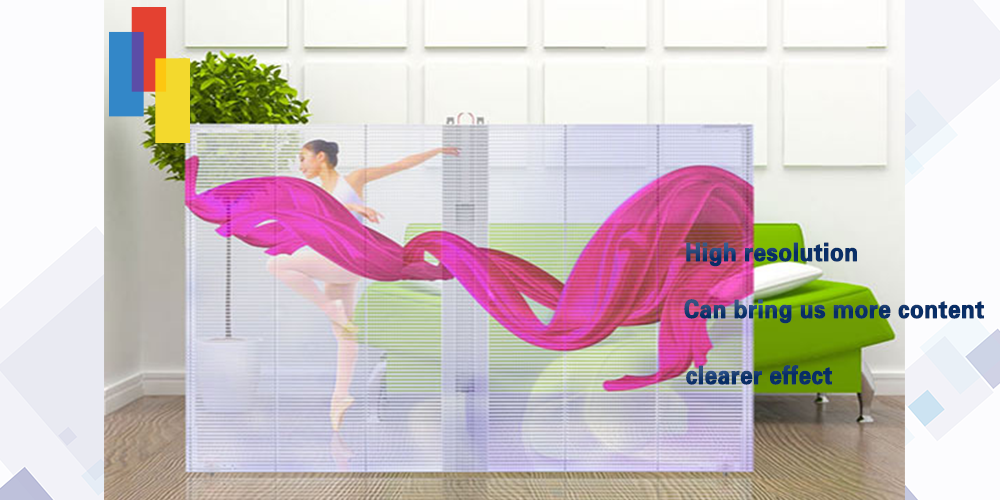 Led glass curtain display