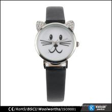 Stainleess Steel Back quartz relógio de pulso marca, relógio animal