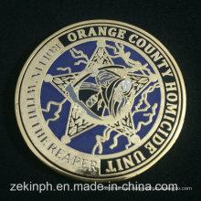 Monedas duras del esmalte del oro de la galjanoplastia de metal de la alta calidad al por mayor