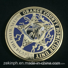 Wholesale High Quality Metal Plating Gold Hard Enamel Coins