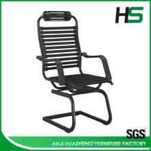 Quadro de arco de alta qualidade cadeira de reunião de escritório de estribo preto