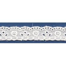 Ojal blanco bordado del cordón / cordón bordado de moda para el vestido de novia de encaje