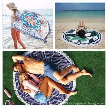 Traje de baño de algodón para mujer que cubre la playa Sarong Pareo Throw Manket Bufanda chal Wrap (SP100)