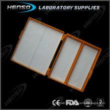 Caixa de armazenamento de slide para microscópio