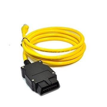 OBD-II male connector to RJ45 plug adaptor