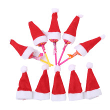 30Pcs Hot Sale Mini Santa Claus Hat Christmas Xmas Holiday Lollipop Top Topper Cover for Festival Christmas Decoration For Home