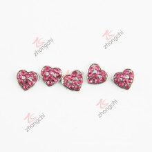 Vermelho cristais coração encantos para flutuante Locket (FC)