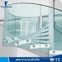 Verre creux en rampes / verre trempé stratifié au verre stratifié et trempé avec ce