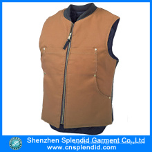Chinese Clothing High Quality Brown Leather Motorcycle Vest