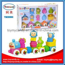 Weichplastik Cartoon Tier Montieren Baustein Zug Spielzeug Set