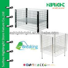 steel wire mesh dump-bin display