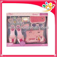 Fashion design party decoration set toys for girls(shoes,handbag,glasses)