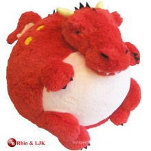 custom promotional lovely plush toy red dragon