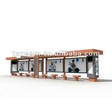 открытый автобусной остановке