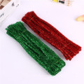 Factory sale 30cm Party Decoration colorful tinsel craft pipe cleaner glitter chenille stem for art