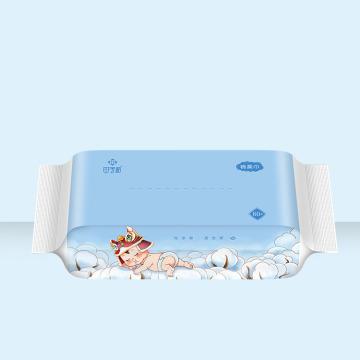 Toallita húmeda para bebé de limpieza de paquete individual con etiqueta personalizada