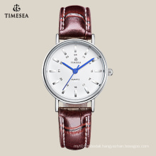 High Quality Women′s Quartz Watch with Brown Lether Strap 71039