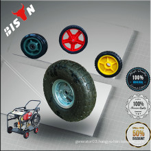 BISON China Taizhou Generator Spare Parts 8inch 10inch Plastic Air-inflated wheel for Sale