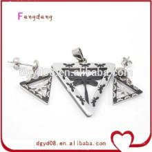 Novo estilo de moda em aço inoxidável conjunto de jóias