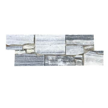 Gray Cloud Cementback Natural Real Stone Paneles de revestimiento