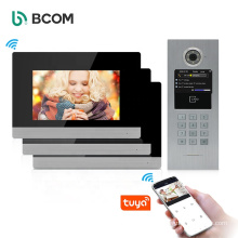 Mutifunction support 100 users interphone security intercom system for big building , android video doorphone for building