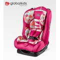 Child car seats with grey-pink cover
