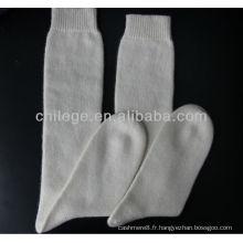chaussettes tricotées en cachemire pur de haute qualité