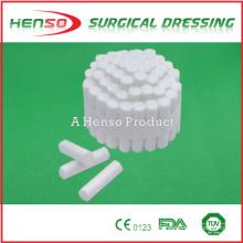 Rolo de algodão dental descartável médico Henso