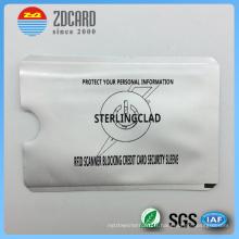 Support de carte papier en aluminium imprimé pour le blocage RFID