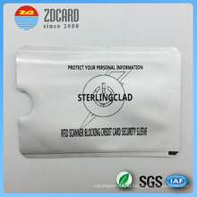 Printed Aluminum Foil Paper Card Holder for RFID Blocking