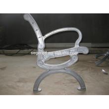Aluminium-Bankbeine mit Verchromung