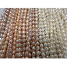 10-11mm Rice Freshwater Pearl Strands (ES380)