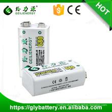 Power supply 9v 500mah Li ion rechargeable battery