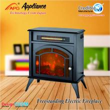 Stand Flame Simulated Electric Fireplace