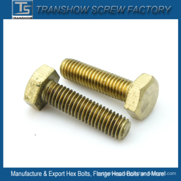 China Manufacturer DIN933 Brass Hex Bolt
