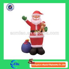 Santa inflable del precio bajo con buena calidad, decoraciones al por mayor de la Navidad de la fábrica