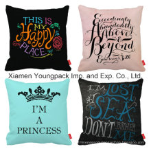 Promotional Home Decorative Custom Printing Design Travel Square Throw Pillow