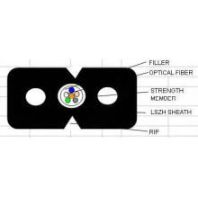 FTTH cabo de fibra óptica de gota em vários tipos Gjxh / GJXFH G657A1 / G652D
