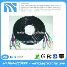BRAND новый высококачественный 3RCA кабель мужской и мужской компонентный AV-кабель черный кабель