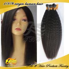 Высокое качество kinky прямая бразильского Виргинские я даю чаевые наращивание волос