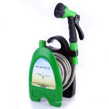 B17 stainless steel garden hose car wash high pressure water gun hose reel