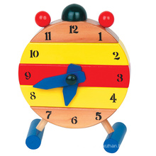 Дошкольная деревянная игрушка-головоломка с часами