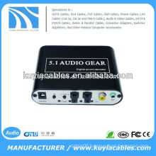 5.1 channel digital Audio Decoder ,Convert DTS/AC3 source digital audio to analog 5.1 audio or stereo audio output