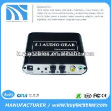 5.1-канальный цифровой декодер звука, преобразование источника сигнала DTS / AC3 в цифровой аудиосигнал в аналоговый 5.1 аудио или стерео аудио выход