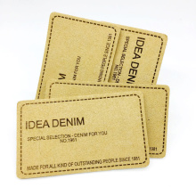 High Quality Fashion Design Hot Stamping Custom Logo Embossed Real Leather Logo Patches For Jeans And Bags