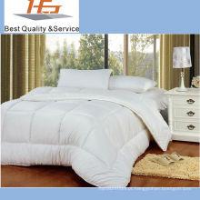 Edredão luxuoso do pato para baixo do hotel branco de alta qualidade do algodão