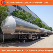 3 reboque do depósito de gasolina do eixo 50cbm 50000 litros de reboque do tanque de óleo da liga de alumínio